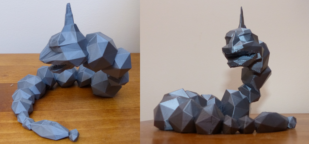 'Onix' the pokemon, http://www.thingiverse.com/thing:208399