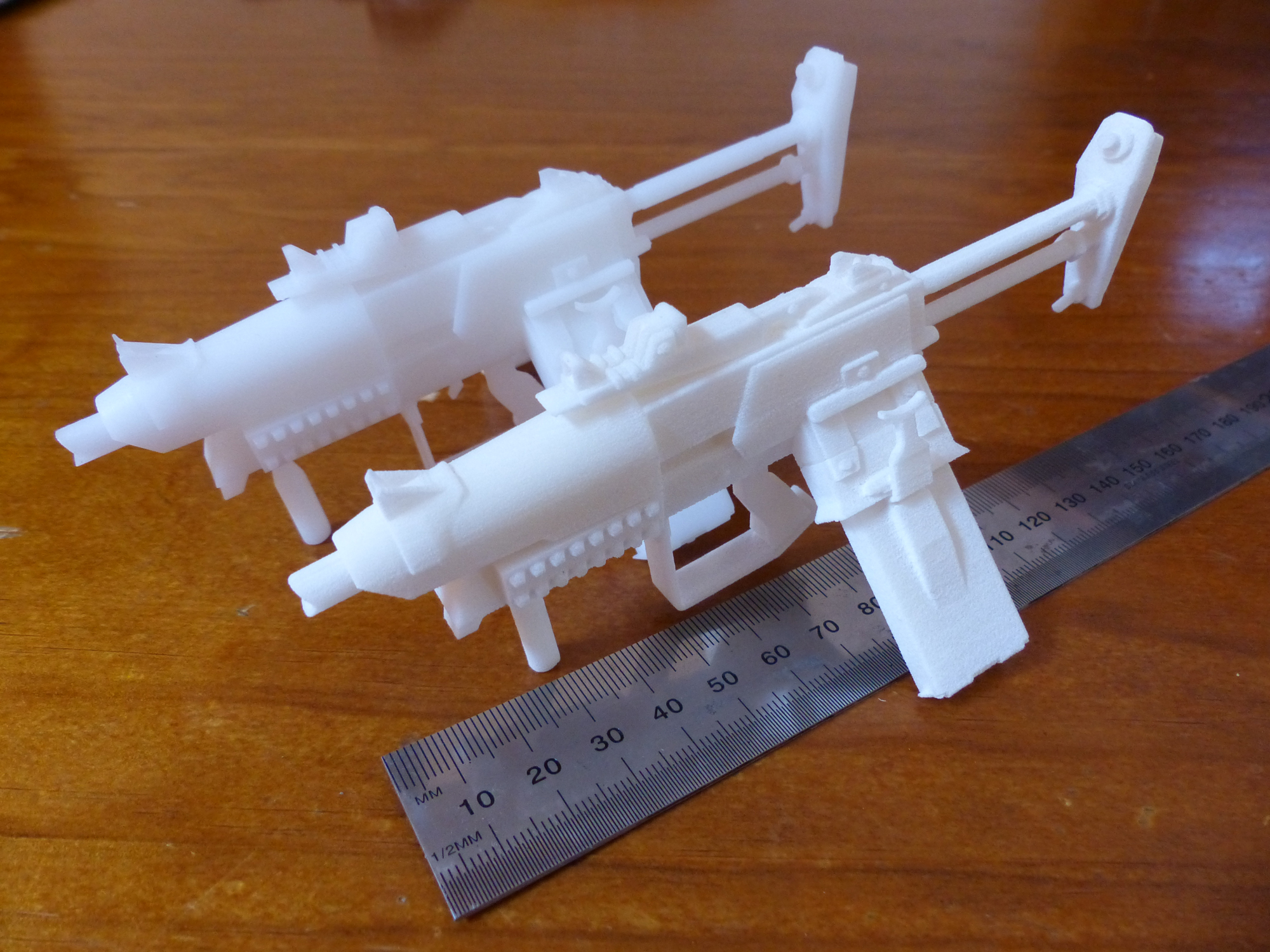 Miniature 'Slagga' Printed in SLA resin and SLS nylon.