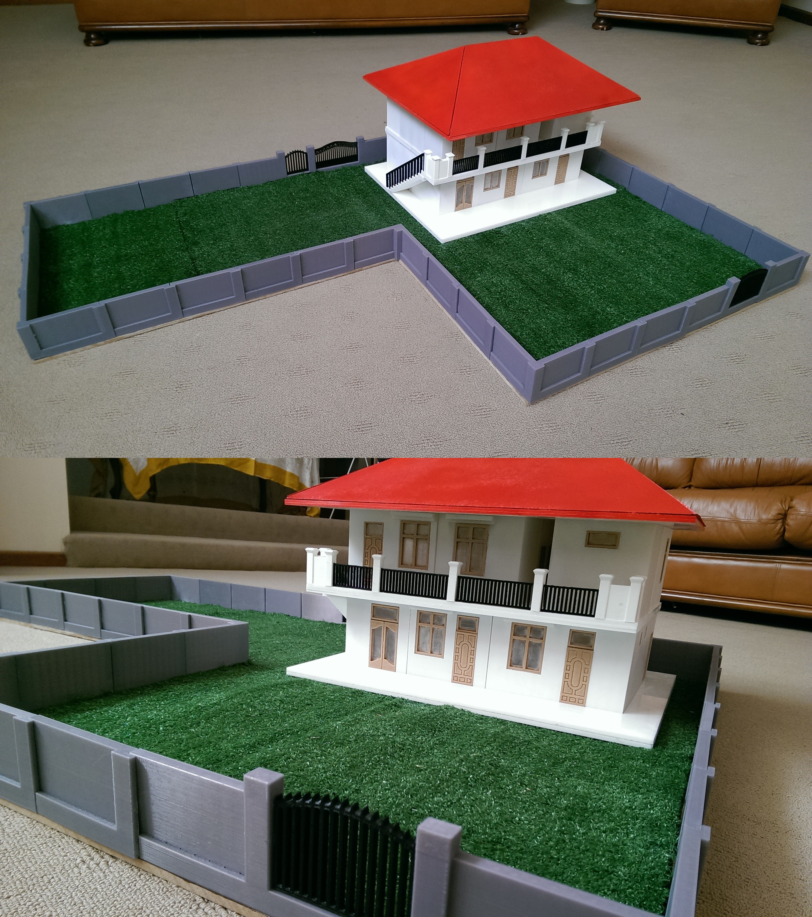 Mandalay Childrens Learning Centre, a massive 3D printed and Laser cut model