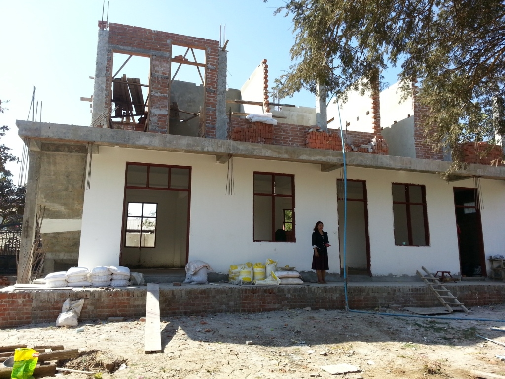 On-going construction of the orphanage