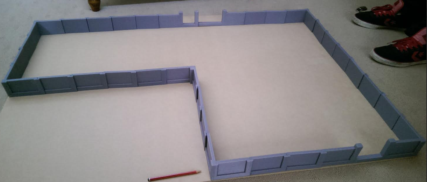 Construction base for the house model