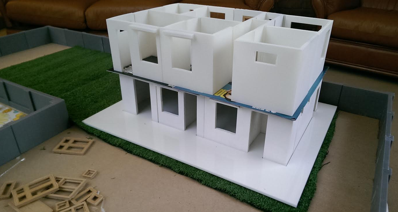 After finally receiving visual confirmation of the location of the doors and rooms, we could begin building the model